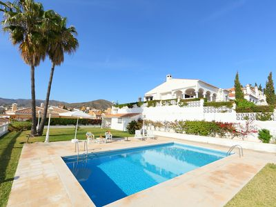 Photo for This 4-bedroom villa for up to 8 guests is located in Rincon De La Victoria and has a private swimmi