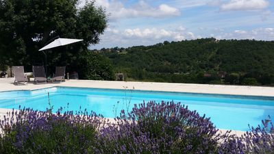 Photo for Charming house with private pool, between Rocamadour and Sarlat 4 bd 4 ba
