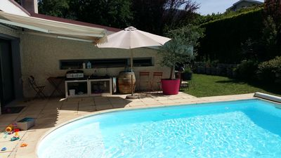 Photo for House 250m² - 5 bedrooms with swimming pool near Golf, Ski and mountain walk