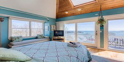 Photo for Romantic Ocean & Boston Skyline Views - From an Exclusive Outdoor Hot Tub!