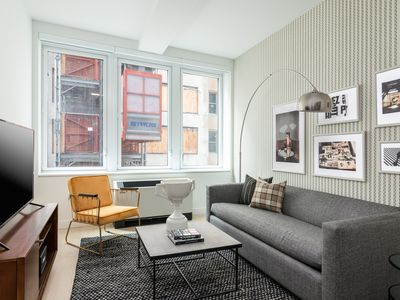 Photo for Sonder | Wall Street | Vibrant 2BR + Sofa Bed