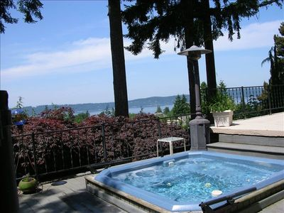 Sit in the hot tub while gazing out