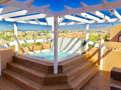 Photo for Striking Marbella Penthouse with HOT TUB Preview