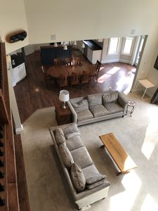Living and dining area from above