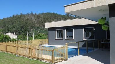 Photo for Luxurious new villa with swimming pool on Rias Baixas