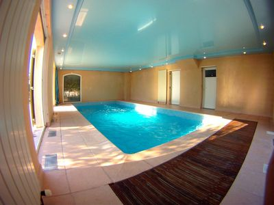 Photo for Villa aircon, indoor pool heated, paradis for children, pin-ball, WLAN free