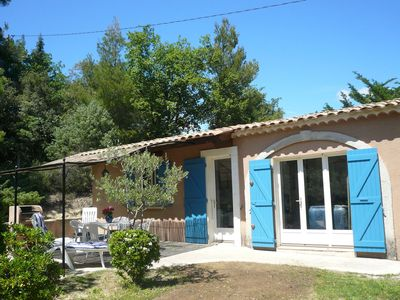Photo for Typical house of South-East France with blue shutters