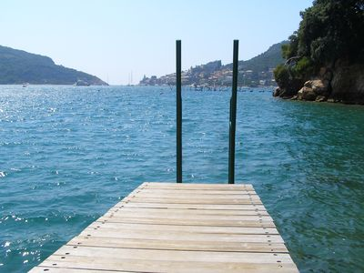 the jetty Bouganville Holiday Home Portovenere