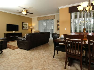 Photo for 6 bdr, 5 bth 2 Master suites, 2 Lv rooms minutes from Disney