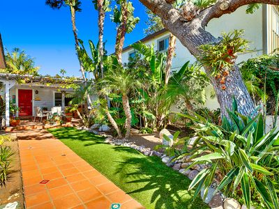 Photo for Ocean Beach Tropics: Tropical gardens surround awesome OB Cottage.