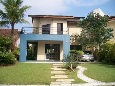 Photo for pernambuco beach, gated community, 4 bedrooms, swimming pool, barbecue