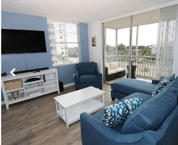 Photo for Stunning new listing! Just remodeled, Partial Gulf View, Walk to Beach, Sleeps 4