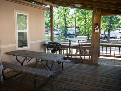 Deck and Picnic table