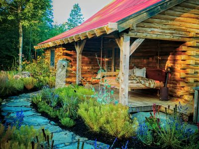 Photo for Circe and Hare Log Cabin in Vermont