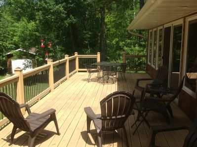 Wrap around deck on lake side