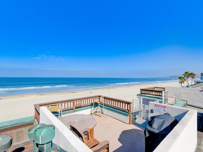 Photo for AWESOME LOCATION/Ocean front bldg / Private roof deck / Steps to Sand and Ocean