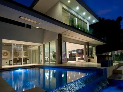 Night time modern home views / Sunset strip area