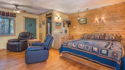 Photo for Whispering Pine Cabins - Aspen Cabin- Upper Canyon with Fireplace &  Kitchenette