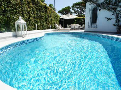 Photo for Dunas Douradas Luxury Villa with private heated pool. Walk to Beach in Minutes
