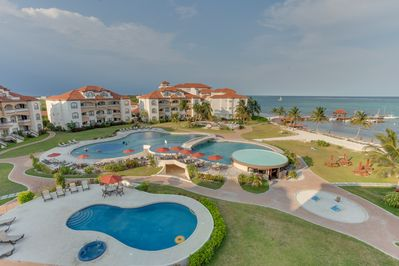 Resort's beautiful pools and grounds