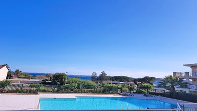 Photo for Apartment T3 - 6 people - Sea view - Residence swimming pool - WiFi - Air conditioning - San Peire ...
