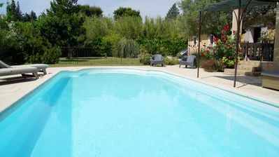Photo for villa with swimming pool between avignon and st rémy de provence garden with trees