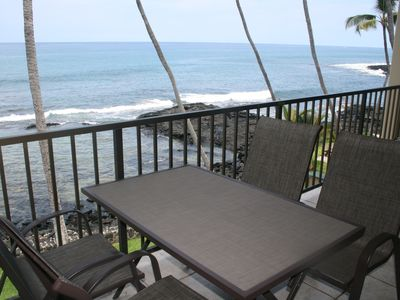 View from lanai fronting ocean