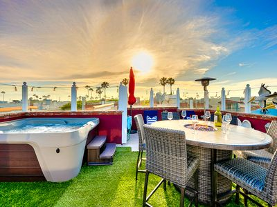 Photo for 25% OFF SEP - Beautiful Beach Home w/ Rooftop Spa, Views + Steps to Water