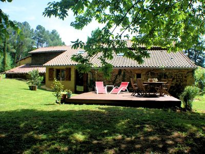 Photo for Romantic authentic gite with a large privat pool ideal for couples!