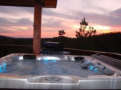 Photo for Panorama Cabin - 15 Mile View Luxury Mountain Cabin, Hot Tub