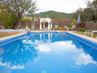 Photo for Luxury family villa with private pool .Jaccuzzi SPA indoor heated +GARDEN