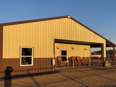 Photo for Rustic Ranch Lodge sleeps 20 with spacious living area and horse stable