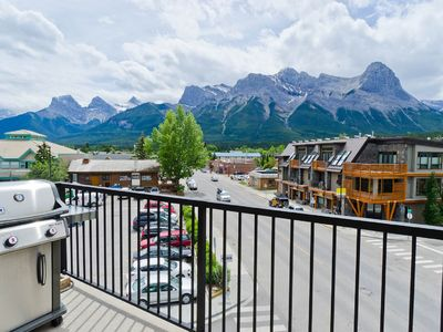 Photo for Top Floor/Corner Unit! Panoramic Mountainview Condo in the heart of Canmore!