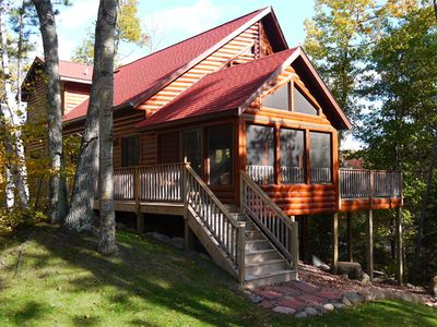 Lake Home with Screen Porch and Deck shown