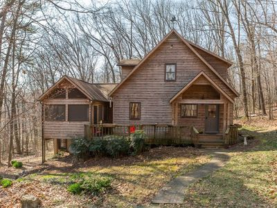 Photo for Rural Retreat on 11 acres, Cabin in the Woods Beautiful Secluded setting