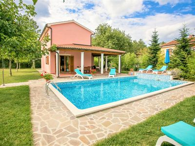 Photo for Pleasant Villa Valmonida with Pool, Sauna, Gym and BBQ