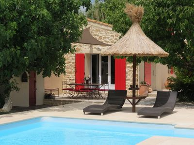 Photo for Guesthouse in Mas Provencal (in SALON DE PROVENCE) with pool and backyard oasis