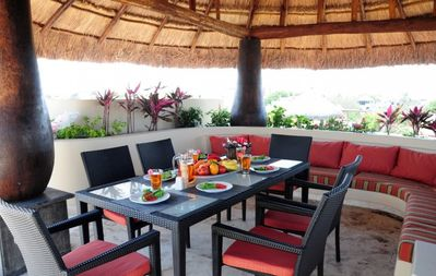 Photo for Winner of Top 25 in All Of Mexico-Oceanfront - PH 2/2 Jacuzzi BBQ Beach Club #2