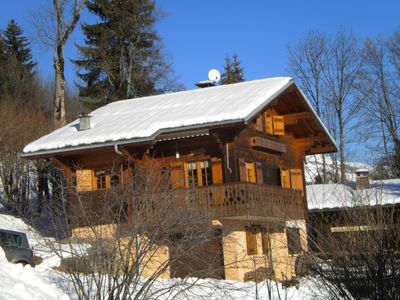 Photo for Chalet with view of Mont Blanc