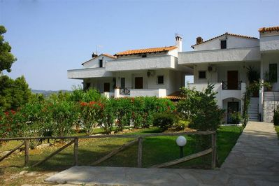 Villa with a sea view, front side, Elani Chalkidiki