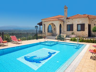 Photo for Family-Friendly Large Villa Iris Dreamhill w/Pool+Childrens Area! 4km to beach