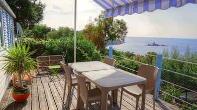 Photo for Air-conditioned mobile home with panoramic sea view