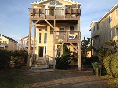 Photo for Nags Head Semi-oceanfront W/ Private Pool & Hot Tub+Beach View