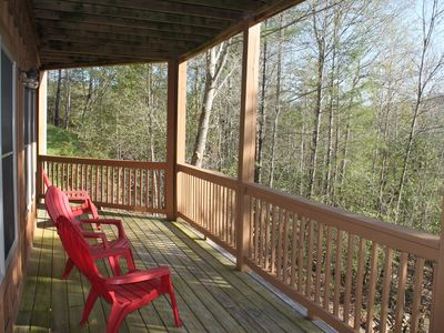 Photo for Quiet Log Cabin w/ Smoky Mountain Views. Enjoy the Hot Tub, Fire Pit & GamesRoom