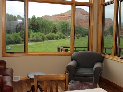 Panoramic views from the living room.
