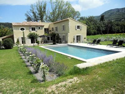 Photo for Exceptional holiday house with pool, in Souspierre, Drôme provençale