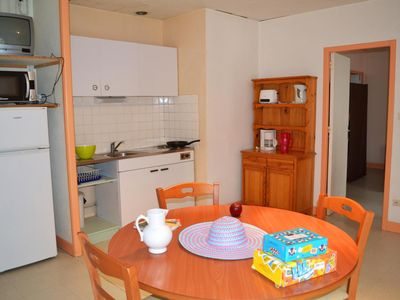 Photo for Surface area : about 28 m². Living room. Bedroom with double bed. Bedroom with single bed