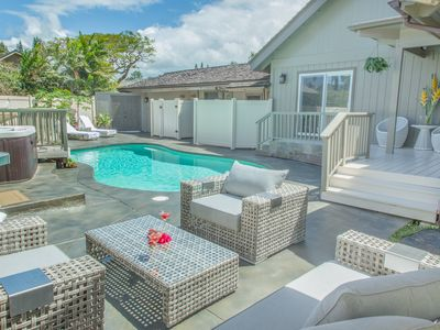 Photo for Beautiful 4 bedroom house with pool in best Princeville neighborhood