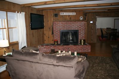 Secluded Private Home Right on Saco River in North Conway  - North Conway  Village