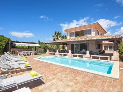 Photo for Villa Mare is a superb 5 bedroom villa (sleeps 12) - short walk to beach, heated pool, AC and WiFi